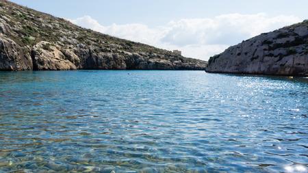 ix: bay close to Sannat on the Maltese island of Gozo