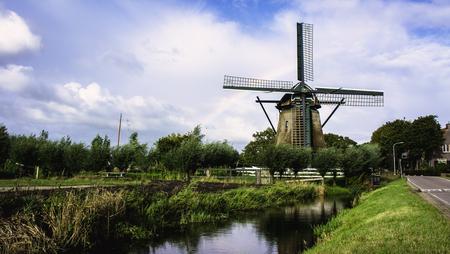 noord: Windmill in Penningsveer, near the city of Haarlem Stock Photo