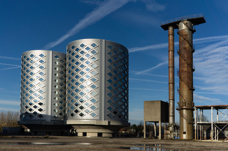 noord: This is the old sugar factory in Halfweg Stock Photo