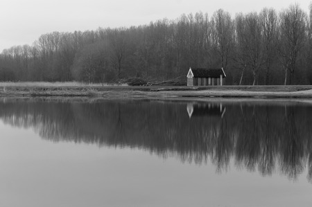 noord: Little cabin in the woods near the lake in Spaarnwoude
