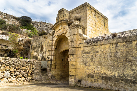 unmatched: Entrance to Lunzjata Valley  This fertile valley is one of the most picturesque in Gozo with unmatched scenery. Stock Photo