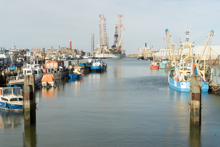 Sea harbour IJmuiden, a busy fishing harbour in the Netherlands