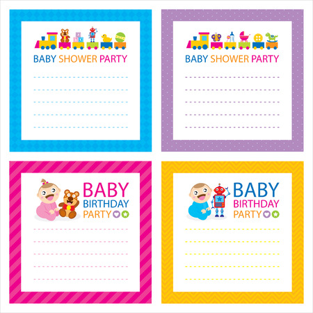 baby shower party card Vector