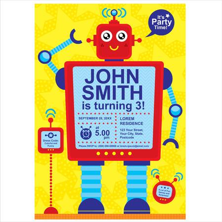 Birthday invitation card  Vector file Illustration