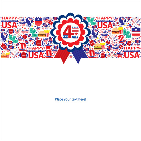 4th July American Independence day templates  Vector file Vector
