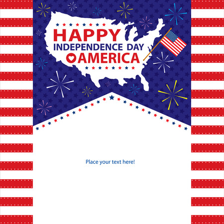 4th of july: 4th July American Independence day templates  Vector file Illustration