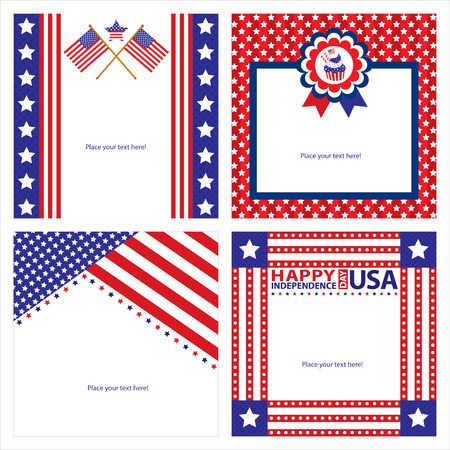 American Independence day template card sets Stock Vector - 29482804