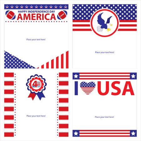 state election: American Independence day template card sets