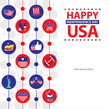 presidents day: American independence day template card