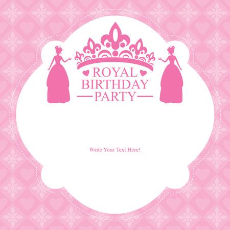 birthday princess card invitation Vector