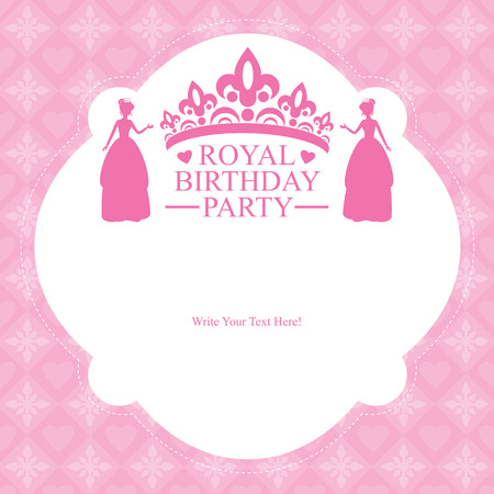 birthday princess card invitation