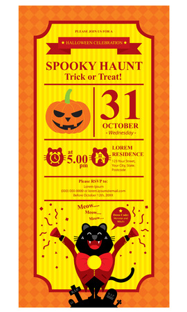 halloween card invitation Vector