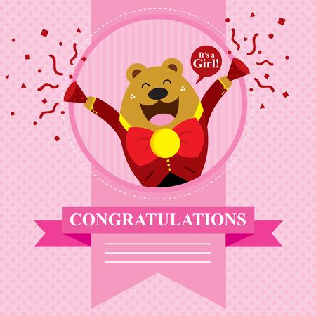 baby bear: baby bear shower card design