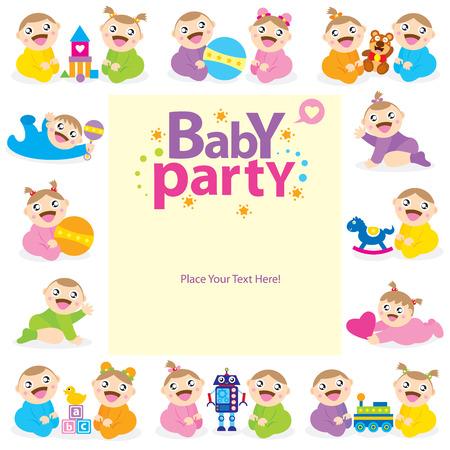 conception de carte de bébé