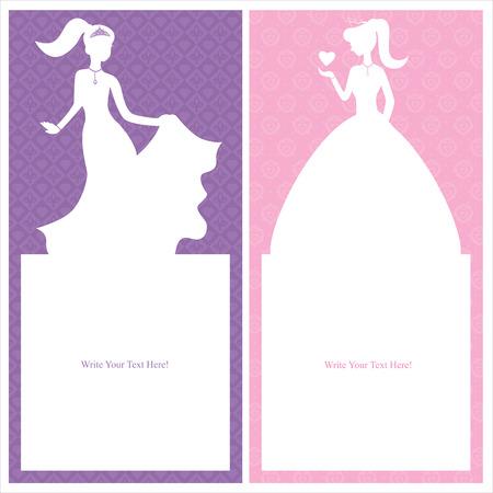 princess card design Vector
