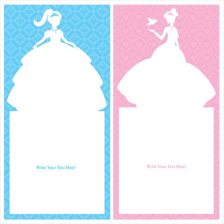 Conception de carte de princesse Banque d'images - 30443778