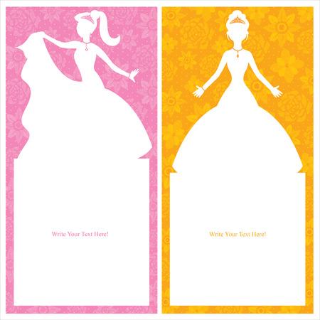Conception de carte de princesse Banque d'images - 30443779