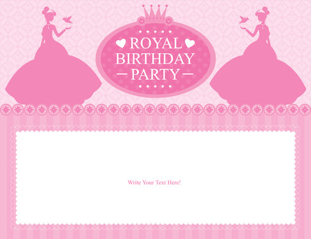 and invites: birthday princess card design