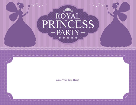 purple stars: birthday princess card design