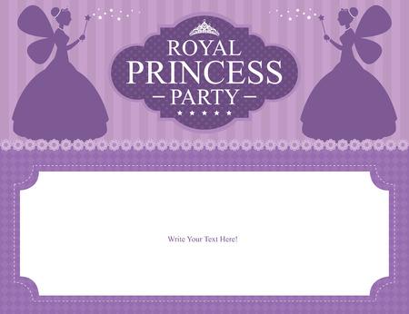 Conception d'anniversaire de carte de princesse Banque d'images - 30443784