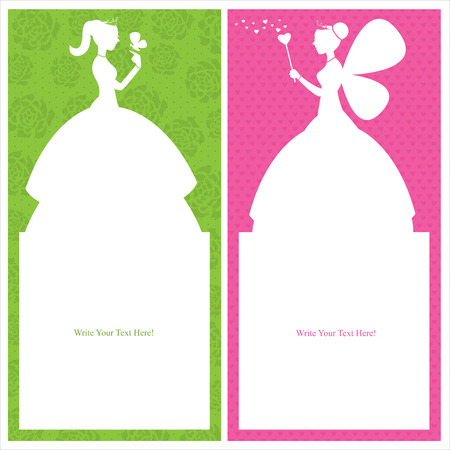 fairy wand: princess card design
