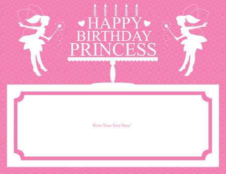 fairy wand: princess birthday card Illustration