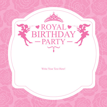 princess birthday card Vector