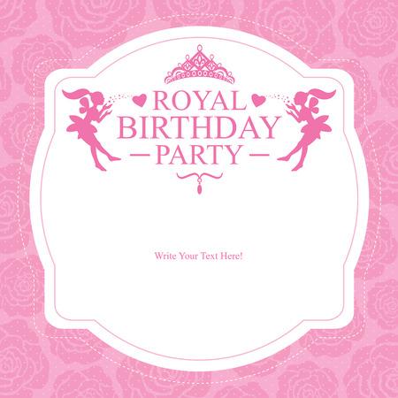 princess birthday card Illustration