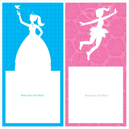 Birthday Princess Card invitation Vector
