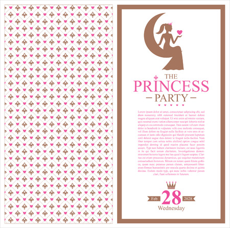 Princess cards template royalty free cliparts vectors and stock birthday princess card invitation vector stopboris Image collections