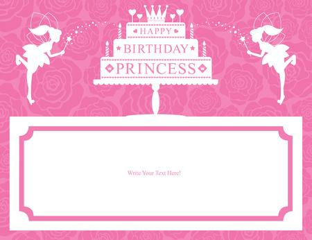 Birthday Princess Card greetings Vector