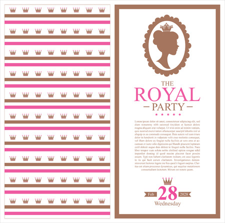 birthday princess card Vector