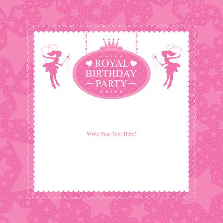 beauty queen: Princess Birthday Invitation card design