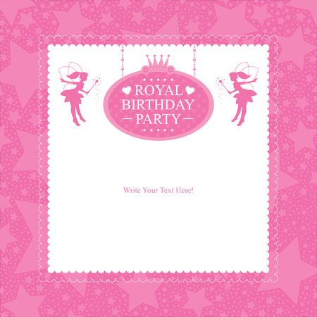invito compleanno: Principessa Birthday Invitation card design