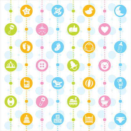baby icon seamless Vector