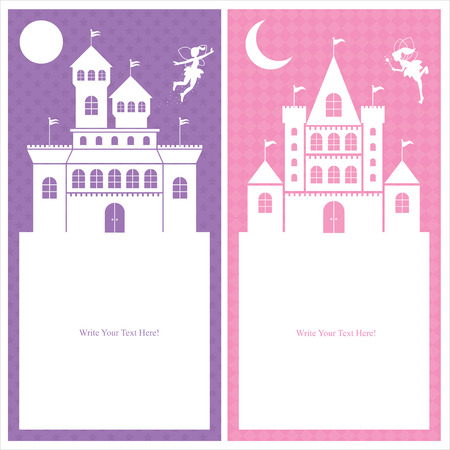 fairy and castle templates Vector