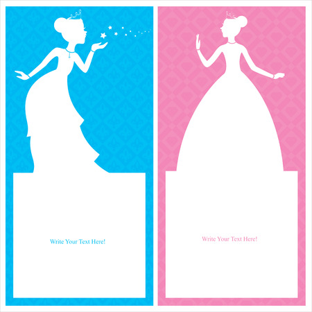 beauty queen: princess card templates