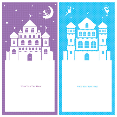 fairy and kingdom template cards Vector
