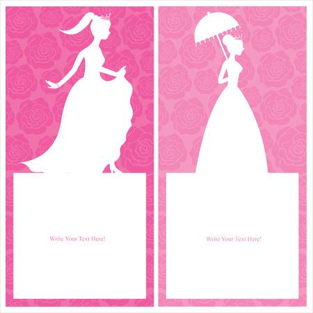 princess card templates Vector