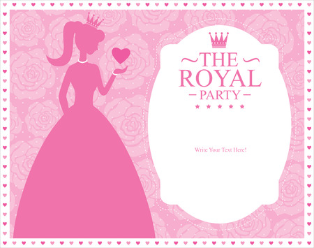 princess card templates Vector