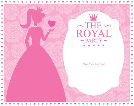 princess card templates