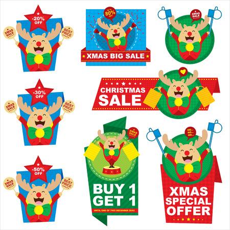 Christmas price tag reindeer