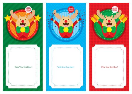 christmas reindeer banner