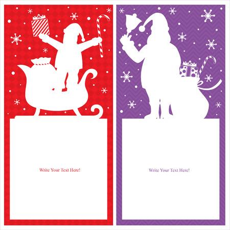 Christmas Santa Claus card Vector