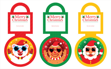 Christmas Tag Card Vector