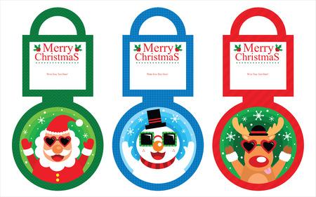 Christmas Tag Card Vector