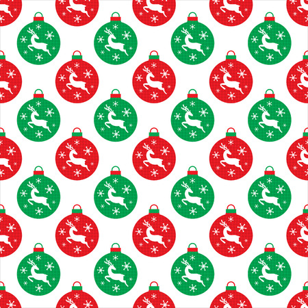 Christmas bulb seamless Vector