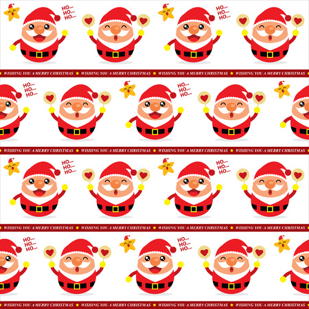 Christmas Santa Claus Seamless Vector