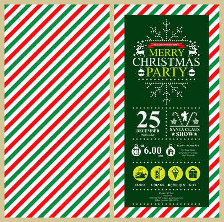 christmas bulbs: Christmas Party Invitation Card