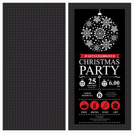 christmas party: Christmas Party Invitation Card
